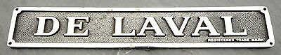 Vintage De Laval Cream Separator Builder Plate Industrial Sign Steampunk Plaque