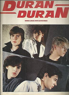 DURAN DURAN Words & music with guitar boxes SPARTITI in inglese