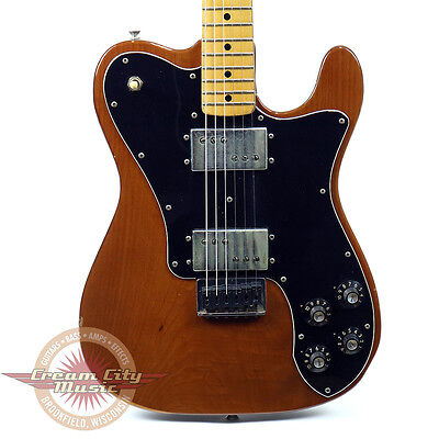 Vintage 1974 Fender Telecaster Tele Deluxe Electric Guitar Walnut Finish