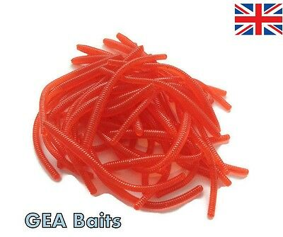 New 27 Pcs Trout Worm Earthworm Sea Fishing Soft Lures Tackle Baits 8cm Scent