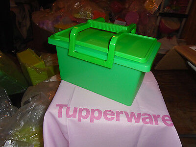 Tupperware Brand New Green Small Carry All with Handle
