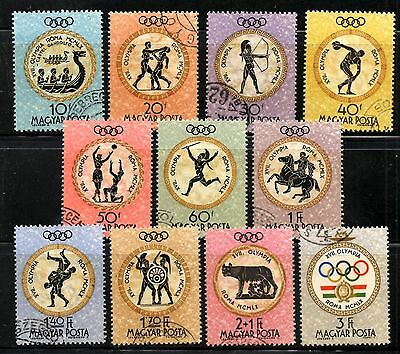 (Ref-9027) Hungary 1960 Olympic Games  SG.1683/1693  Used