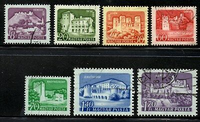 (Ref-9040) Hungary 1960 Hungarian Castles   SG.1694/1700 Set of 7  Used