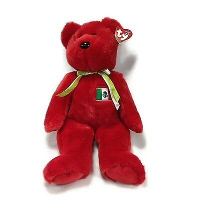 """Ty Beanie Baby Osito -Rare Retired 14"""" (Bear Mexico US Country Exclusive 1999)"""
