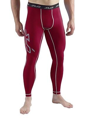 Sub Sports Compression Base Layer Pants Tights Burgundy Red Sz XXL 2XL Running