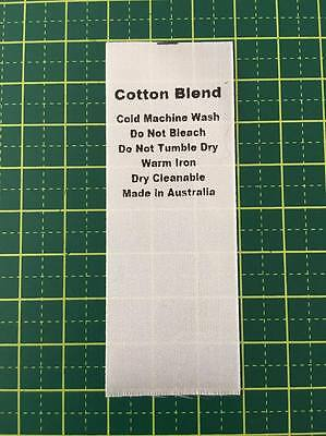 Care/Wash Instruction Clothing Labels - Cotton Blend