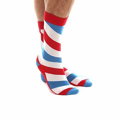 Socks White Blue Red Stripe Cotton 12 13 Size Mens Pairs 10 Crew Low Cut Ankle
