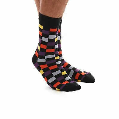 Amedeo Exclusive New Dress Socks Multi Coloured Check Combed Cotton Aeso32