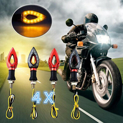 4x Red Motorcycle LED Turn Signal Indicator Light For Suzuki GSXR Streetfighter