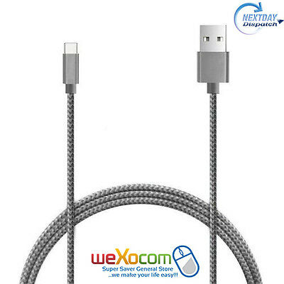 1M Strong Fabric Braided USB-C 3.1 Type C Fast Sync Data Charger Cable