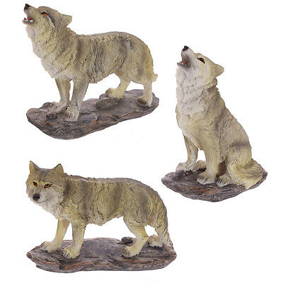New Wolf Figurine Ornament Medium Sized On Stand