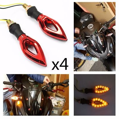 4x Red Motorcycle LED Turn Signal Indicator Light For KTM EXC 400 450 Supermoto