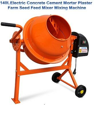 140L Electric Concrete Cement Mortar Plaster Farm Seed Feed Mixer Mixing Machine