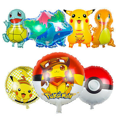 7pcs Pokemon Balloons Party Decorations Pikachu Balloons Go Party Suppliers Toys