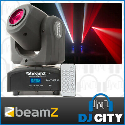 Beamz Panther-40 Compact LED Moving Head DJ Effect Light with IRC Remote & DMX