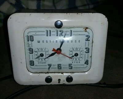 Vintage WORKING WESTINGHOUSE CLOCK TC-81 Kitchen Stove Clock Timer