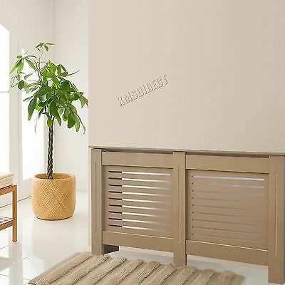 FoxHunter Natural Painted Radiator Cover Wall Cabinet Wood MDF Modern Home MED