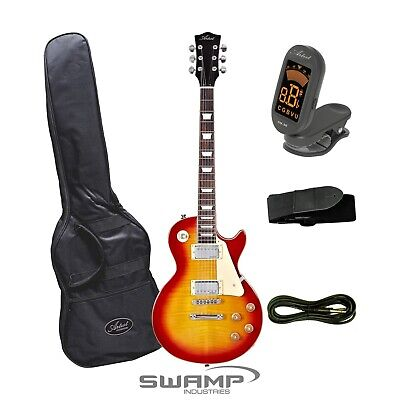 Artist LP Style Electric Guitar with Tuner, Bag + Accessories - Cherry Sunburst