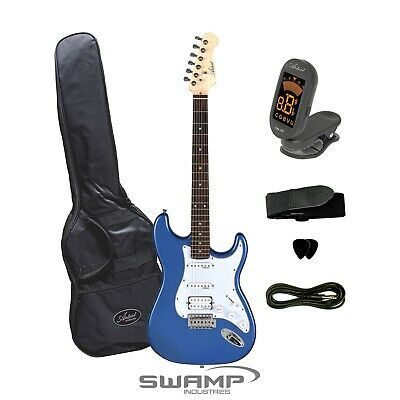 Artist ST Style Electric Guitar Plus Bag, Tuner + Accessories - Blue