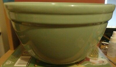 VINTAGE  FOWLER WARE GREEN PUDDING/MIXING BOWL   19cm   RARE