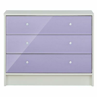 New Malibu 3 Drawer Wide Chest - Lilac.