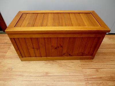 Large SOLID Timber TOY Storage BLANKET Box CHEST 100cm wide Adelaide