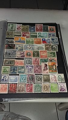 60 timbres du Chili (Lot 24)