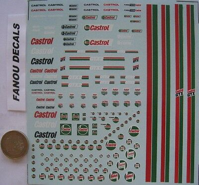 GENERIQUE CASTROL 1/43e  DECAL FANOU