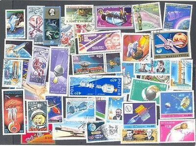 Space - 200 all different stamp collection-mainly large-medium-