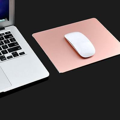 220x180mm Gaming Aluminum Alloy Mouse Pad with Non-slip Rubber Base - Rose Gold