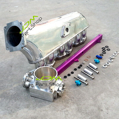 for TOYOTA 1JZ-GTE  INTAKE MANIFOLD kit + Throttle body + Top feed fuel rail set