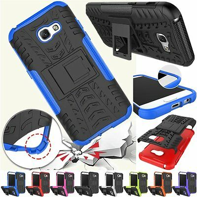Hybrid Rugged Armor Shockproof Hard Case Stand Cover For Samsung Galaxy A5 2017