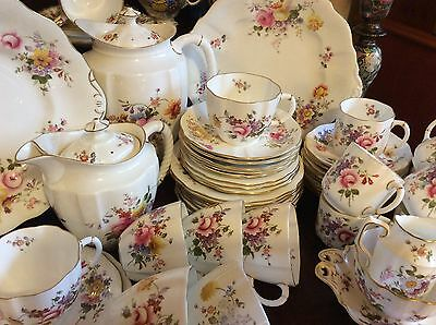 55 items Royal Crown Derby fine English china Posies pattern coffee & tea set