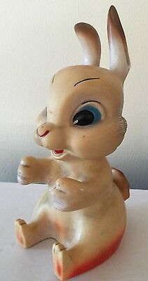 Vintage Rubbertoys  Made Italy Quietschfigur Hase  Puppe Spielzeug 50. Rubbertoy