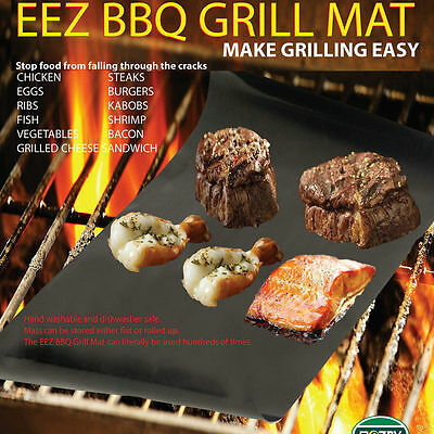 NEW Outdoor Home BBQ Grill Mat - As Seen On TV-Make Grilling Easy Pack KY