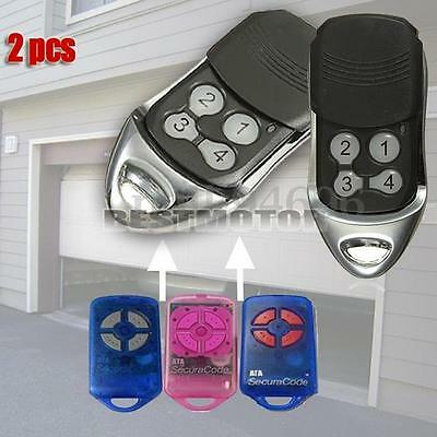 2xReplacement Gate/Garage Door Remote Control 4 Button For ATA PTX-4 SecuraCode