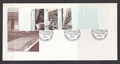 1989 Urban Inviroment Booklet Pane On Fdc  **** Error, A Rare Find****