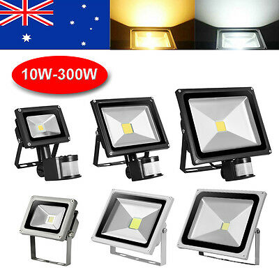 10W 20W 30W 50W 100W LED Flood Light SMD PIR Motion Sensor Spot Floodlights Lamp