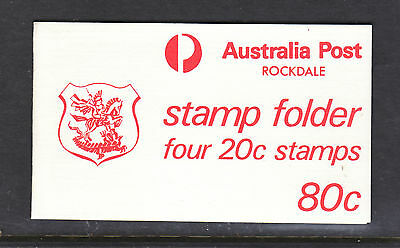 1979 SYDNEY FOOTBALL BOOKLET ROCKDALE 20c YELLOW ROBIN   RARE!!!!!!!