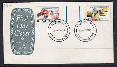 1968 Soil Science And Medical Gutter Joint Pair Fdc.  Very Scarce Unaddressed