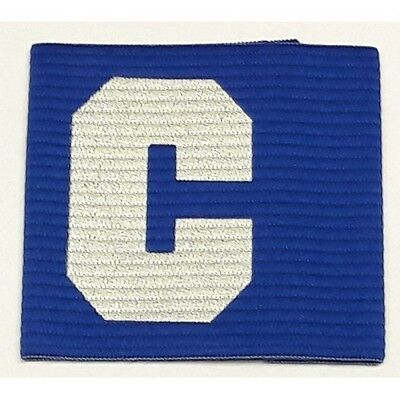 Captains Armband for Football, Rugby, Hockey. Adult Size Blue Colour UK