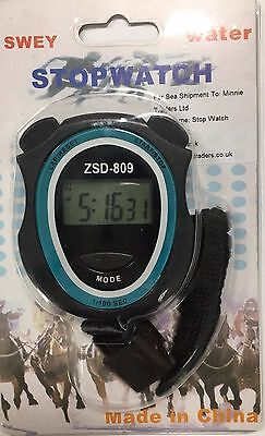 New Digital Handheld Sports Stopwatch Stop Watch Timer Counter UK Seller