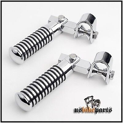 Footrests footpegs pegs o ring rubber chrome for Harley Davidson and custom new