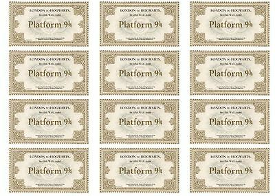 24 Harry Potter Hogwarts Express Tickets Edible Cake Toppers Icing or Wafer