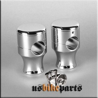 "2 CNC handlebar riser chrome for 1"" handlebars Harley Davidson and custom bikes"
