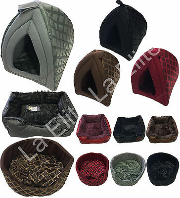 Pet Bed House Igloo Basket Bed Cave Dogs Cat Kitten Puppies Bed Warm Insulated
