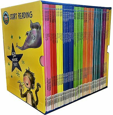 Start Reading 52 Books Collection Box Set Level 1 to 9 Children Early Reading PB