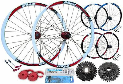 "27.5"" 650B Mountain Bike MTB Front Rear Wheel Set 8/9/10 Speed DISC BRAKE"