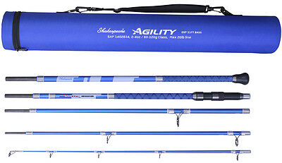 Shakespeare Agility EXP 2 5-Piece Travel Bass Rod 11ft  2-4oz With Travel Tube