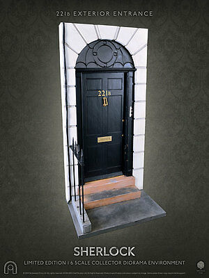 221B Entrance Door 1:6 Scale Figure Dioramas BIG CHIEF STUDIOS SHERLOCK DIORAMA